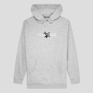 Pass Port Skateboards - Olive Puff Print Pullover Hooded Sweatshirt - Grey Heather
