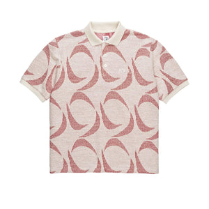 Polar Skate Co. - Patterned Polo Shirt - Ivory / Red