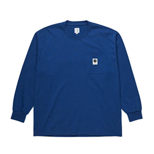 Polar Skate Co. - Pocket Longsleeve T-Shirt - Dark Blue