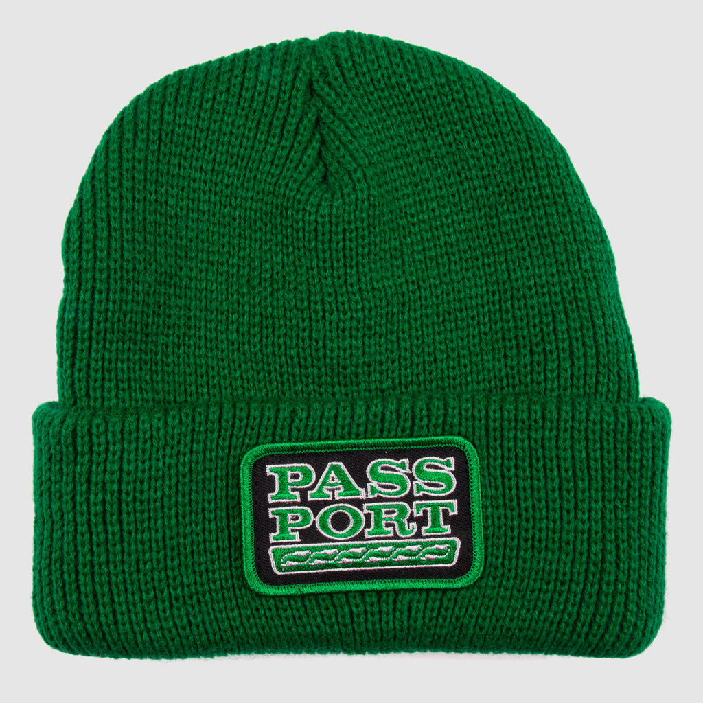 Pass Port Skateboards - Auto Patch Beanie - Kelly Green