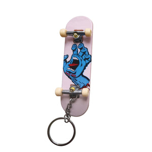 Santa Cruz - Screaming Hand Fingerboard Keychain - White