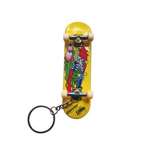 Santa Cruz - Slasher Fingerboard Keychain - Yellow