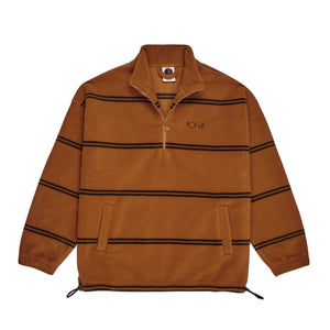 Polar Skate Co. - Striped Pullover Fleece 2.0 - Caramel