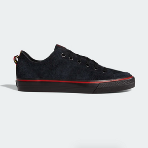 Adidas Skateboarding - Nizza RFS Shoes - Core Black / Scarlet / Footwear White