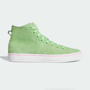 Adidas Skateboarding - Nizza Hi RFS Shoes - Spring Green / Footwear White / Light Pink