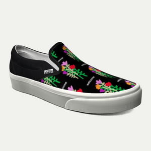 Vans x Welcome Slip-On Shoes - Black / White / Multi