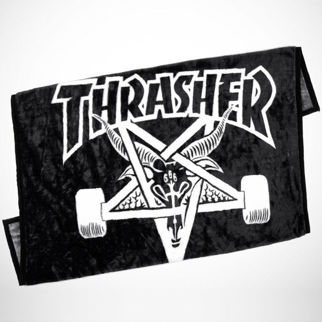 Thrasher Magazine - Skate Goat Blanket - Black / White