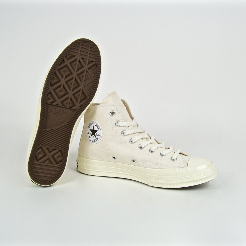 Converse - 70's Chuck Taylor All Star Hi Shoes - Natural / Black / Egret