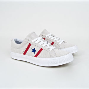 Converse - One Star Academy Ox Shoes - White / Enamel Red / Blue