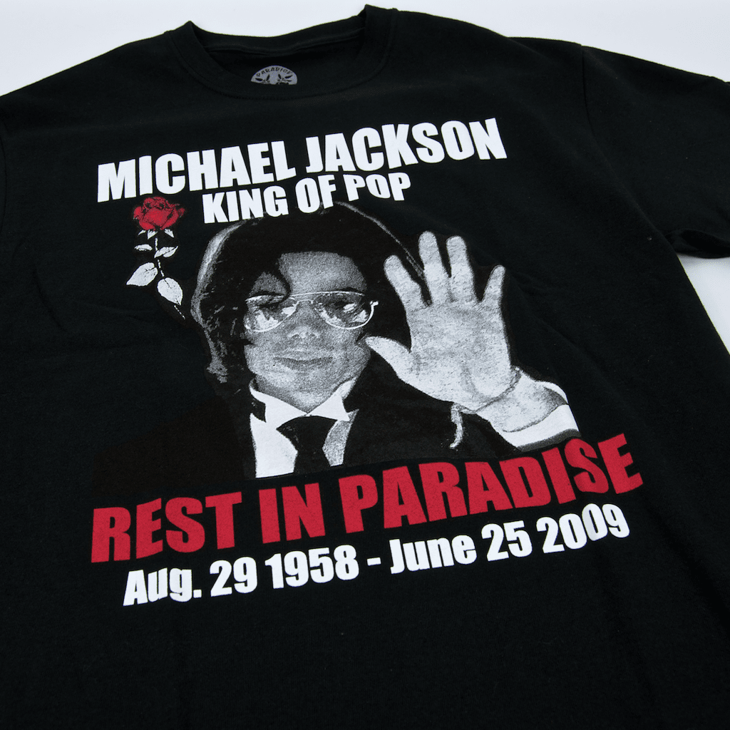 Paradise - RIP King Of Pop T-Shirt - Black