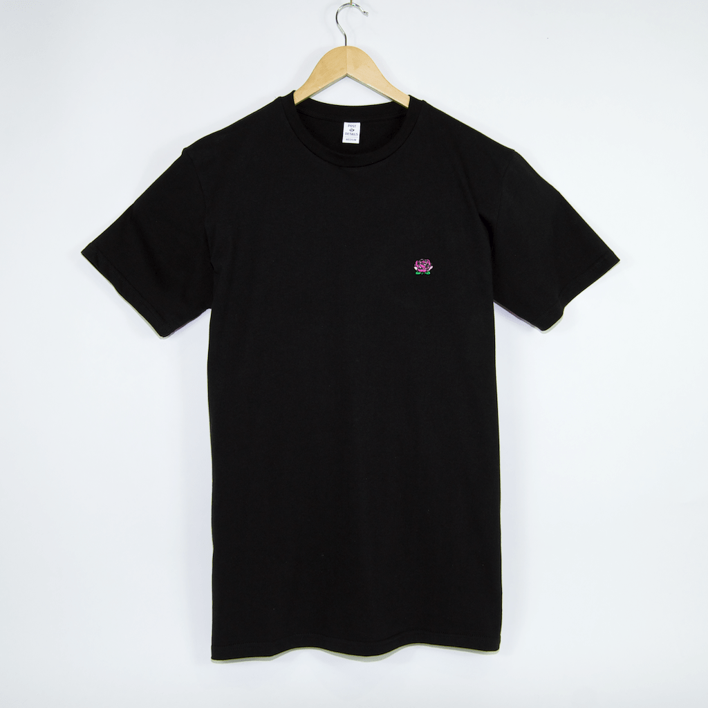 Post Details - Rose Print Logo T-Shirt - Black
