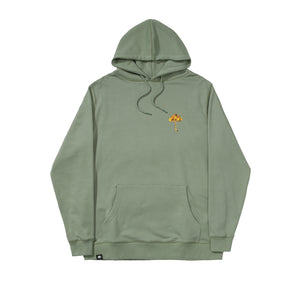 Helas - Umbrella Camo Pullover Hooded Sweatshirt - Kaki Green