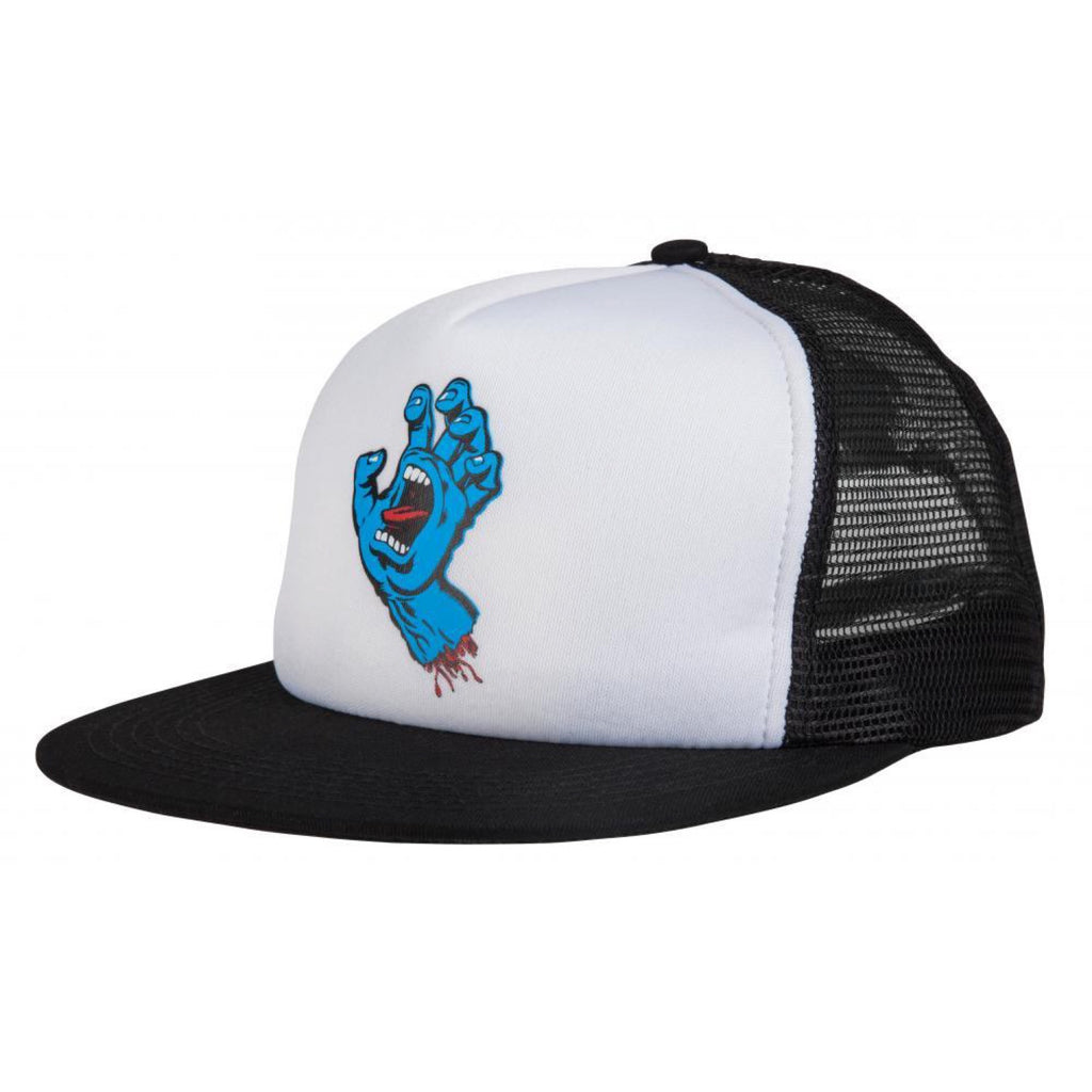 Santa Cruz - Screaming Hand Mesh Cap - White / Black