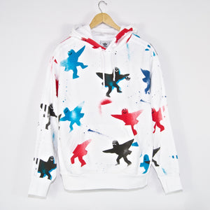 Adidas Skateboarding - Shmoo Pullover Hooded Sweatshirt - White / Black / Scarlet / Blue
