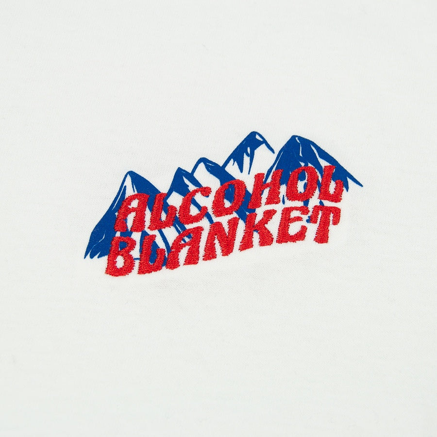 Alcohol Blanket - Mountains T-Shirt - White