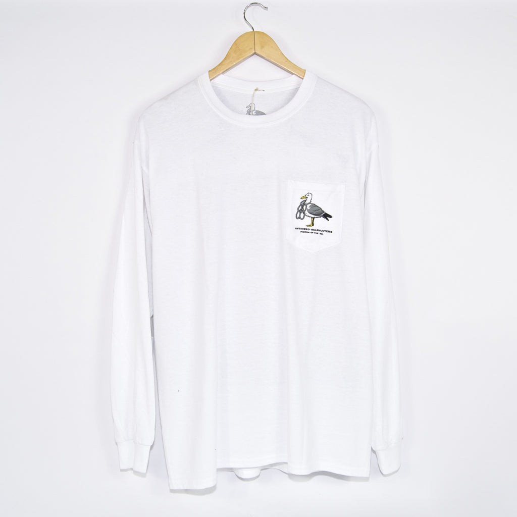 Anti Hero Skateboards - Gnarhunters Longsleeve T-Shirt - White