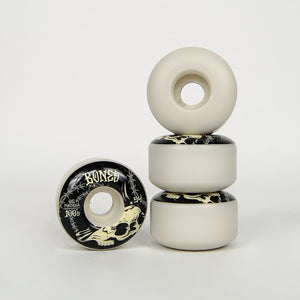 Bones - 54mm 100's V4 Wide Desert Skull Skateboard Wheels
