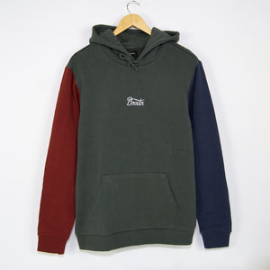 Brixton MFG - Sith Pullover Hooded Sweatshirt - Evergreen / Washed Navy / Dark Brick