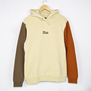 Brixton MFG - Sith Pullover Hooded Sweatshirt - Gravel / Dark Khaki / Amber