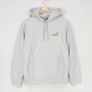 Carhartt WIP - American Script Pullover Hooded Sweatshirt - Ash Heather