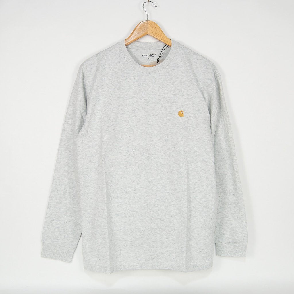 Carhartt WIP - Chase Longsleeve T-Shirt - Ash Heather / Gold