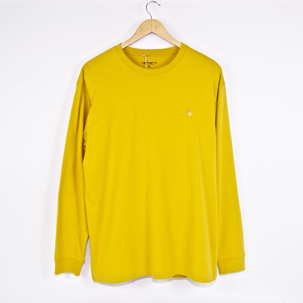 Carhartt WIP -  Chase Longsleeve T-Shirt - Colza / Gold