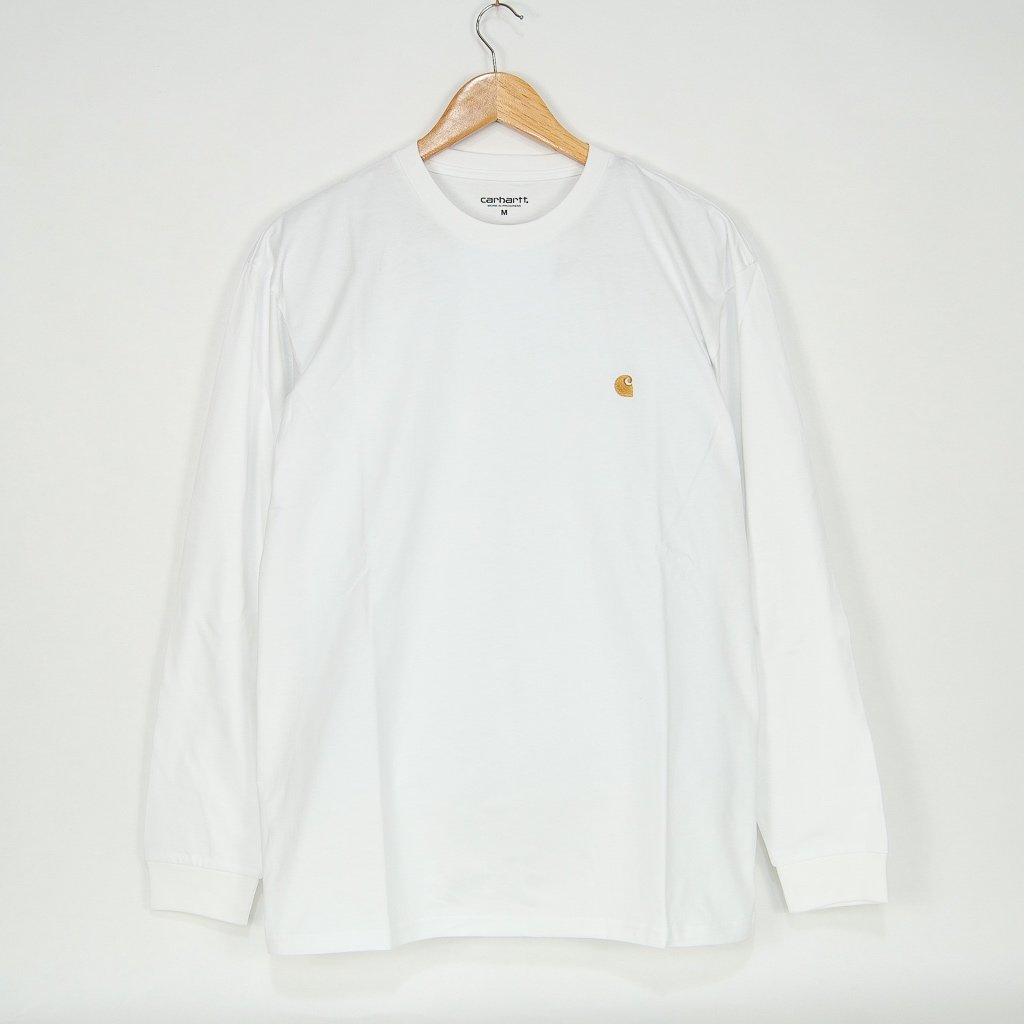 Carhartt WIP - Chase Longsleeve T-Shirt - White / Gold