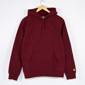 Carhartt WIP - Chase Pullover Hooded Sweatshirt - Merlot / Gold