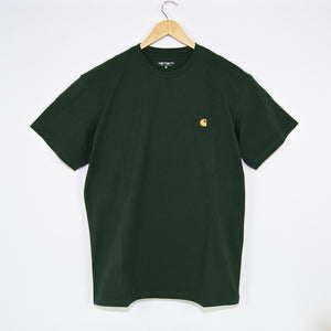 Carhartt WIP - Chase T-Shirt - Dark Teal / Gold