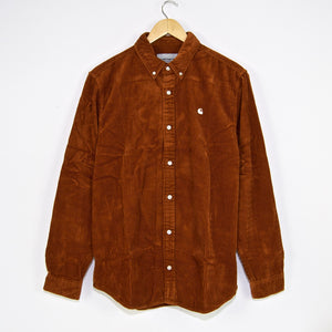 Carhartt WIP - Madison Corduroy Longsleeve Shirt - Brandy / Wax
