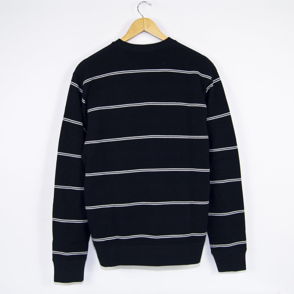 Carhartt WIP - Spacer Stripe Crewneck Sweatshirt - Dark Navy / White