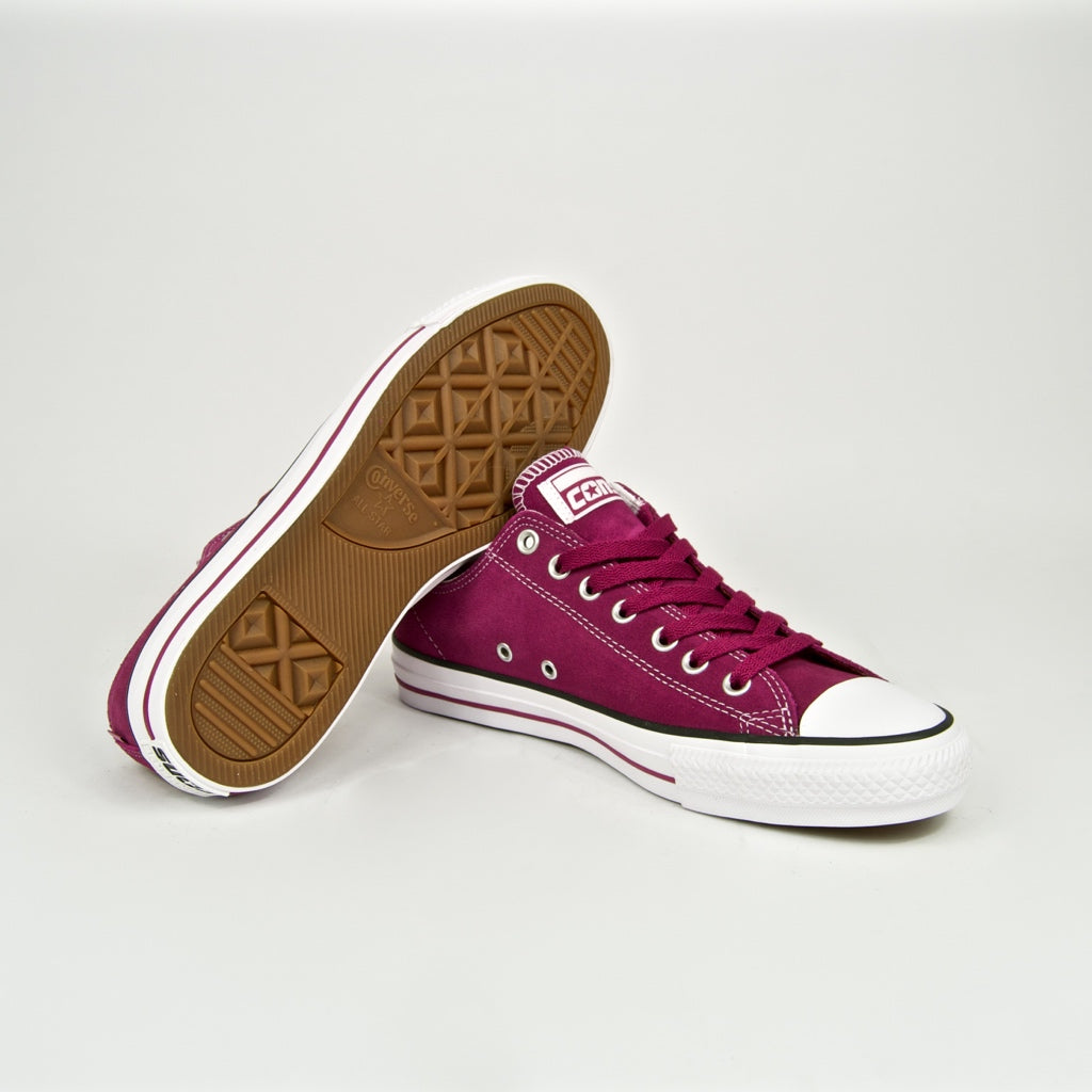 Converse Cons - CTAS Pro Shoes - Rose Maroon / White / Rose Maroon