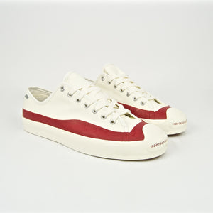 Converse Cons - Pop Trading x Jack Purcell Pro Shoes - Egret / Red Dahlia / Egret
