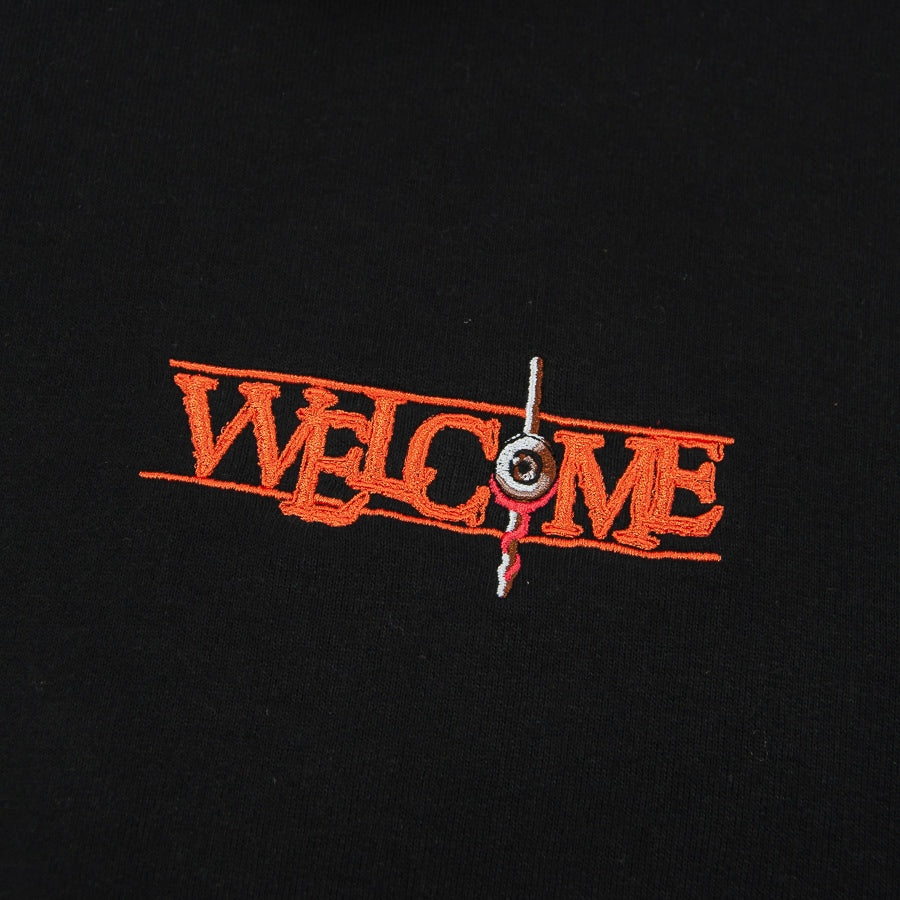 Welcome Skate Store - Eyeball Pullover Hooded Sweatshirt - Black
