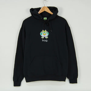 Frog Skateboards - The Cow Pullover Hooded Sweatshirt - Black