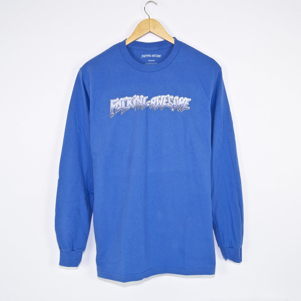 Fucking Awesome - Chrome Longsleeve T-Shirt - Flo Blue