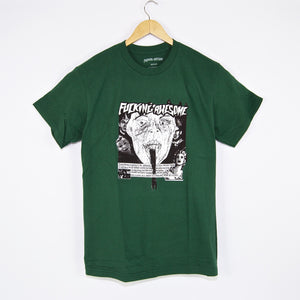 Fucking Awesome - Face Reality T-Shirt - Dark Green