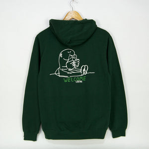 Welcome Skate Store - Gonz Pullover Hooded Sweatshirt - Bottle Green / White / Kermit
