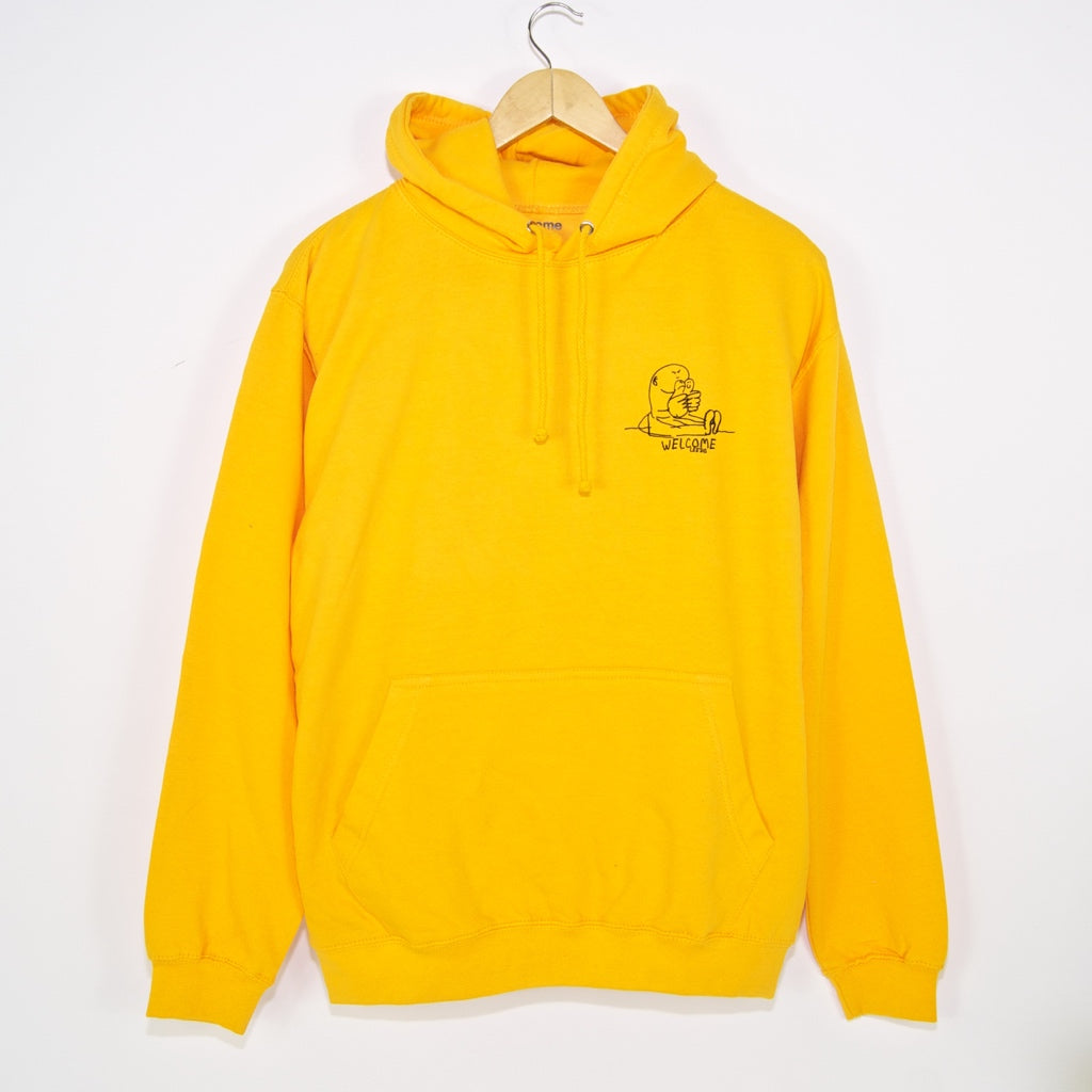 Welcome Skate Store - Gonz Pullover Hooded Sweatshirt - Yellow / White