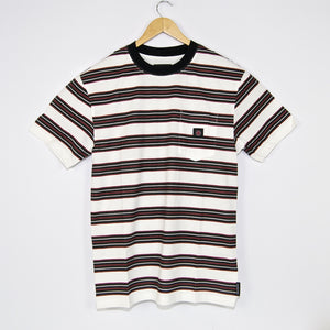 Independent - Hachure Stripe Pocket T-Shirt - Off White