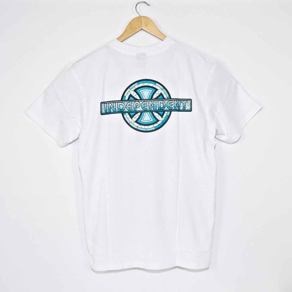 Independent - Stained Glass Cross T-Shirt - White