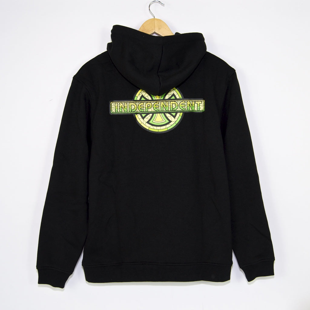 Independent - Stained Glass Cross Zip Hooded Sweatshirt - Black