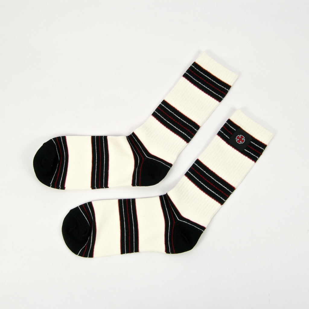 Independent - Stripes Socks - Off White