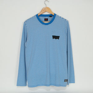 Levi's Skateboarding Collection - Longsleeve Stripe T-Shirt - Ultramarine / Feeder