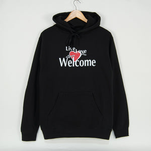 Welcome Skate Store - Live Love Pullover Hooded Sweatshirt - Black