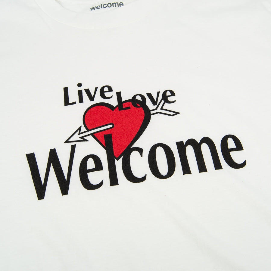 Welcome Skate Store - Live Love T-Shirt - White