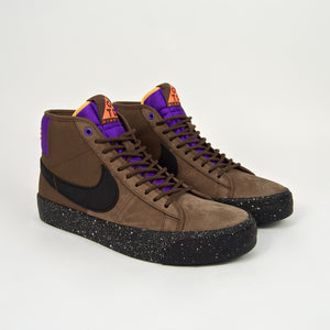 Nike SB - Blazer Mid Premium Shoes - Trail End Brown / Black