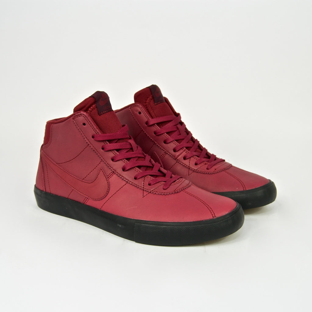 Nike SB - Bruin High Orange Label Leo Baker Shoes - Team Red / Night Maroon / Black