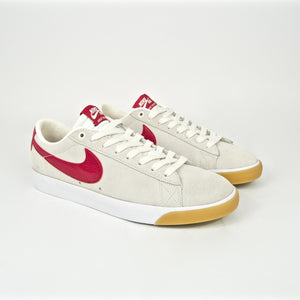 Nike SB - Grant Taylor GT Blazer Low Shoes - Sail / Cardinal Red / White / Gum / Light Brown