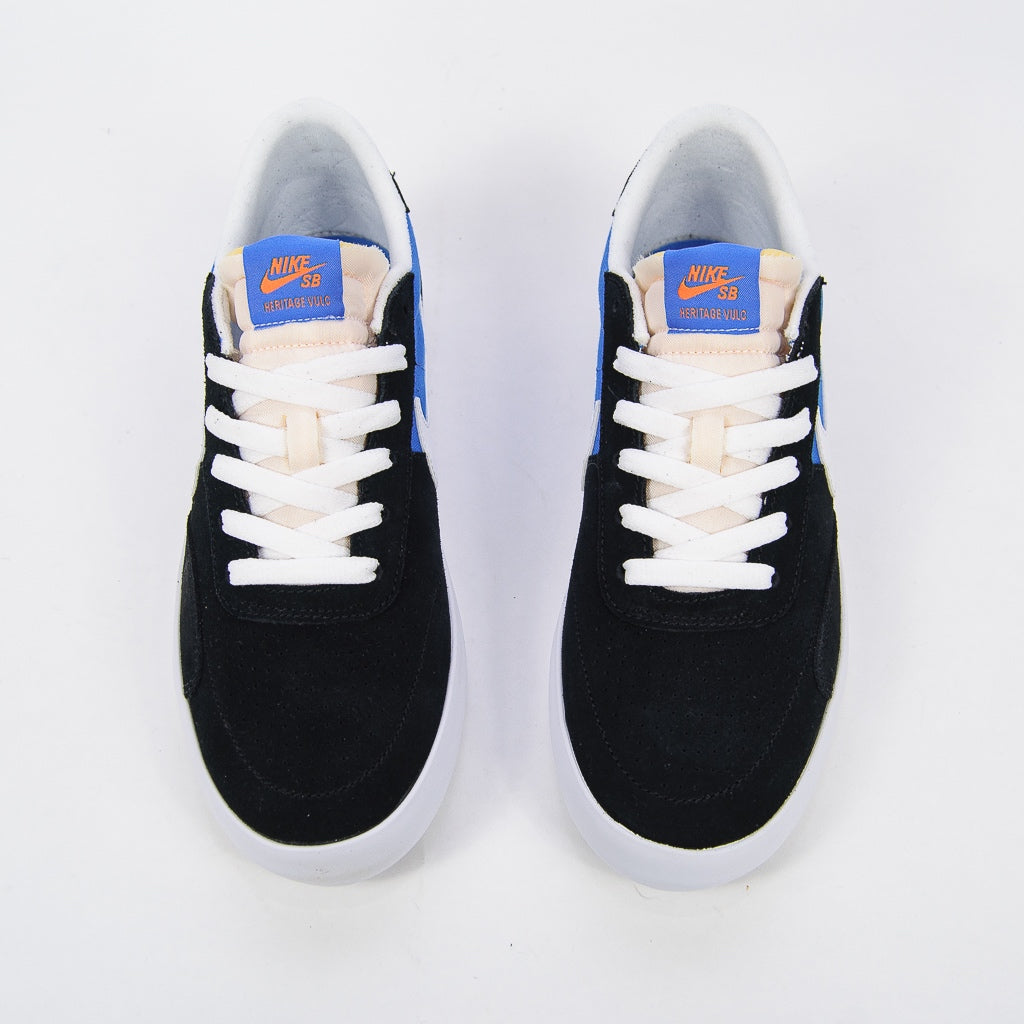 Nike SB - Heritage Vulc Shoes - Black / White - Signal Blue